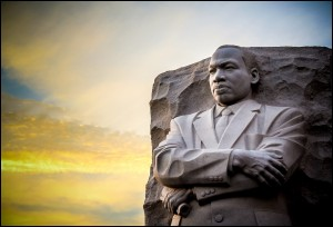 Martin Luther King Jr Memorial. The statue memorial for Martin Luther King Jr. in West Potomac Park, Washington D.C.