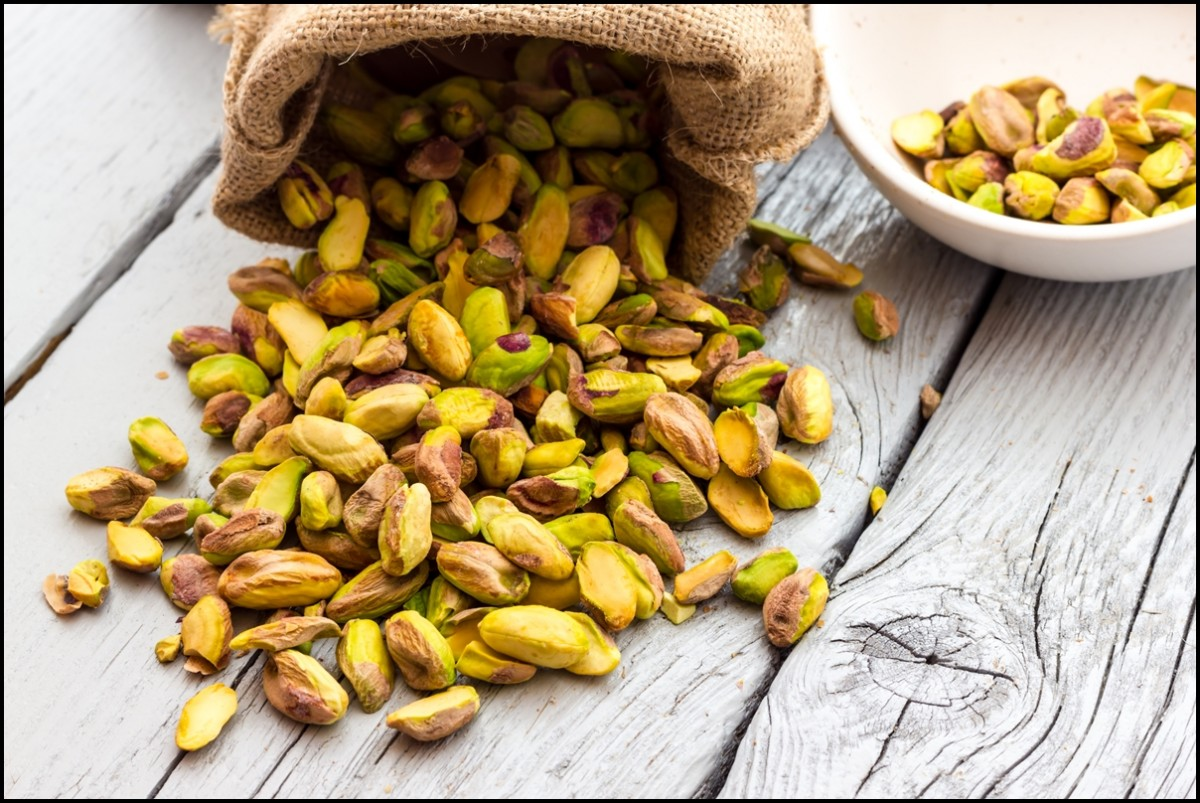 A bag of fresh, delicious Pistachios