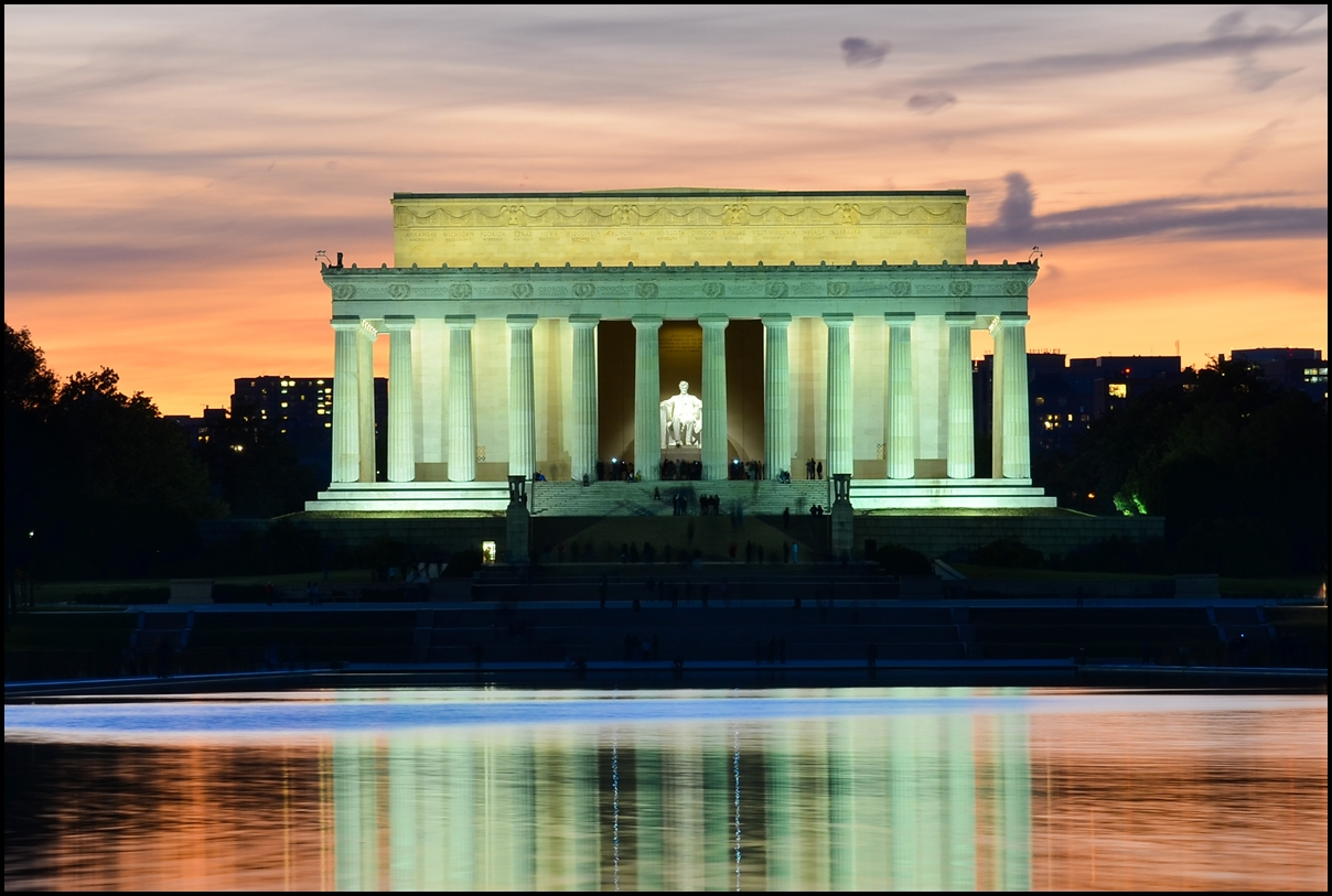 Abraham Lincoln Memorial in the Evening - Washington DC, United States