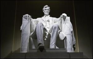 Abraham Lincoln Memorial statue, Washington, DC