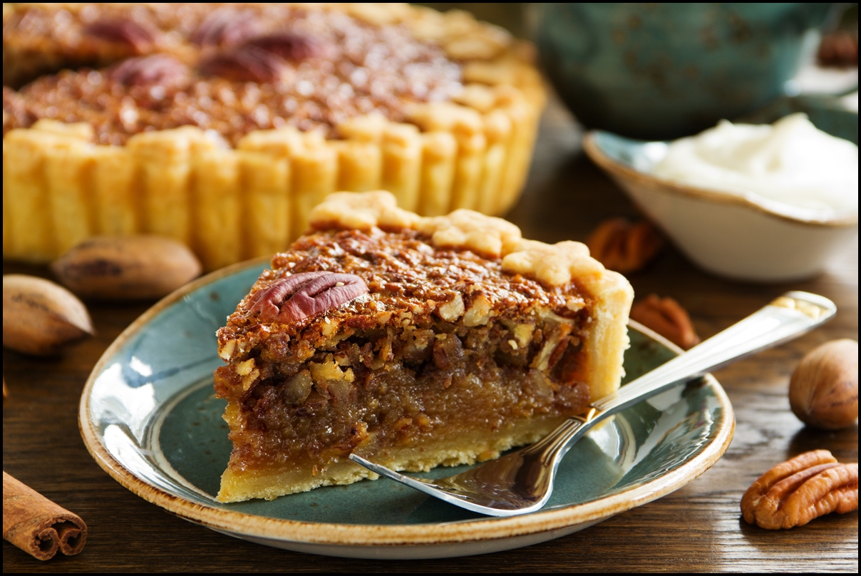American classic cake with pecans