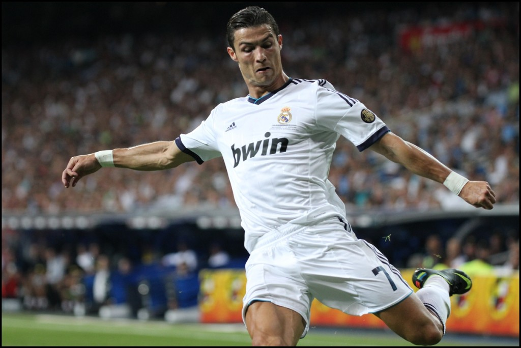 August 2012. Santiago Bernabeu Stadium. Cristiano Ronaldo during the Supercopa, Real Madrid vs FC Barcelona