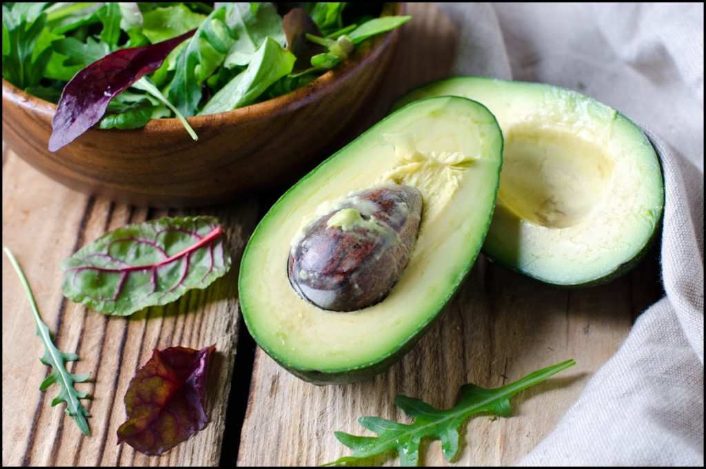 Avocado and salad mix