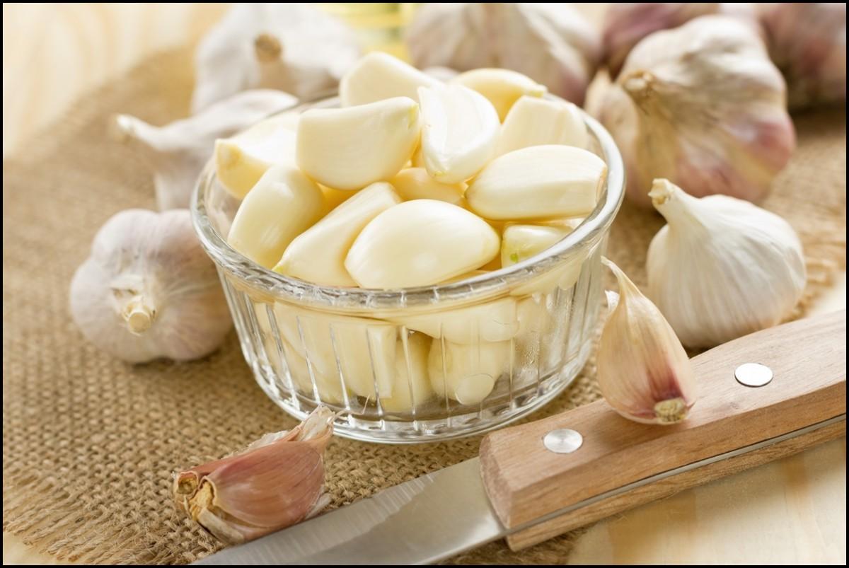 Chopped Garlic Close Up