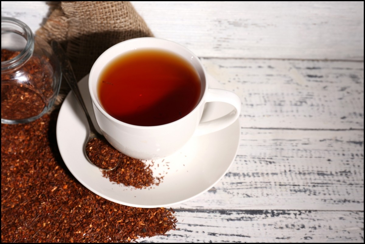 Cup of tasty rooibos tea
