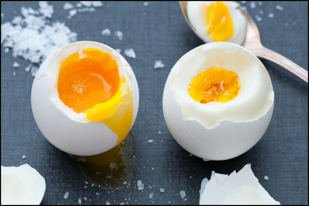 Delicious Boiled Eggs close up