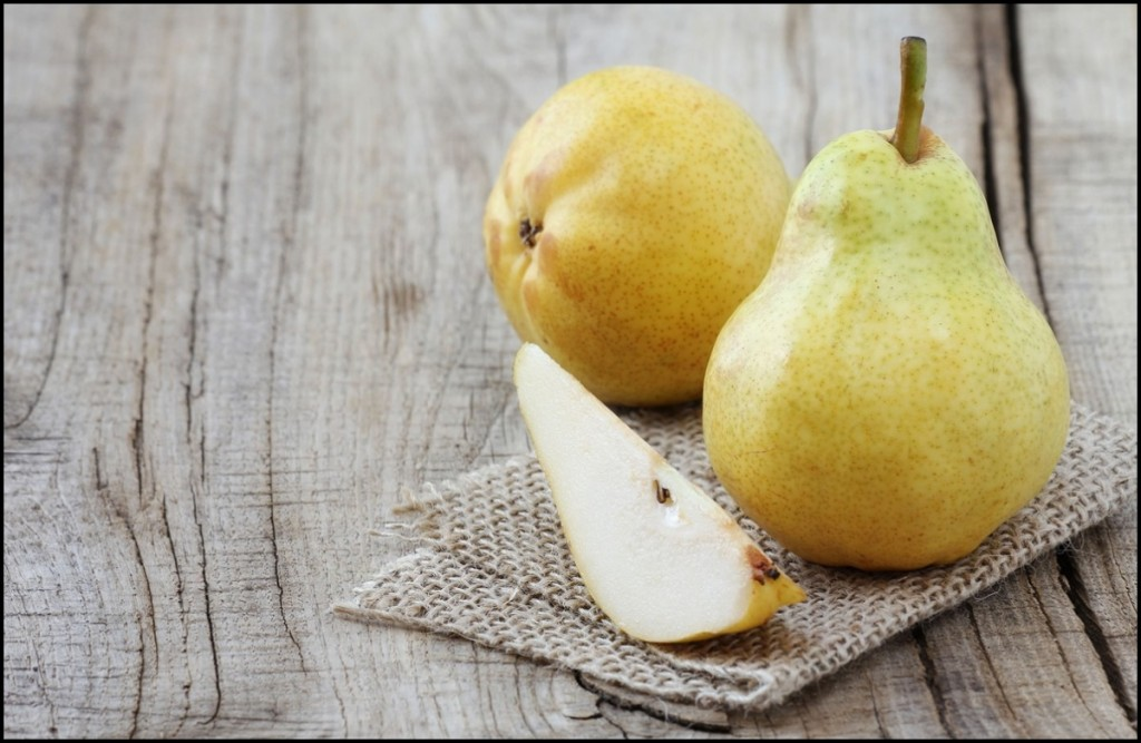 Delicious Williams pears close up