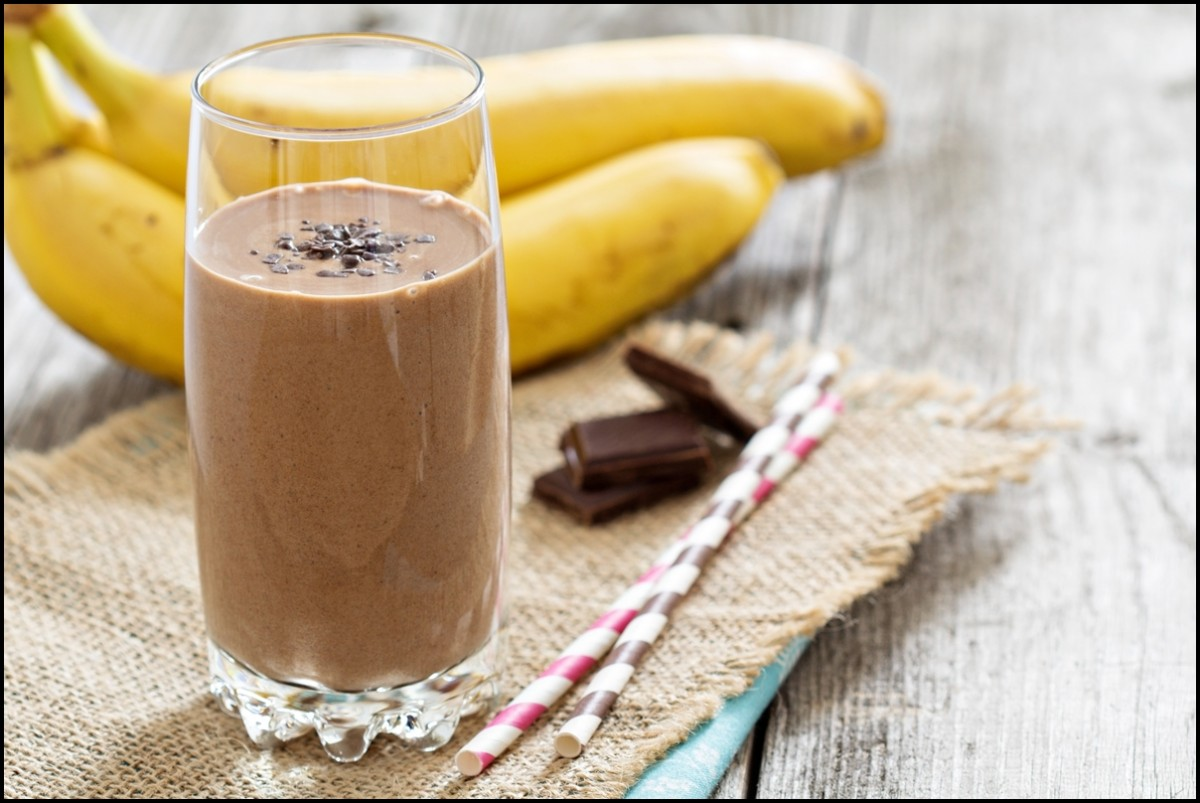 Delicious and healthy Chocolate Banana Milkshake