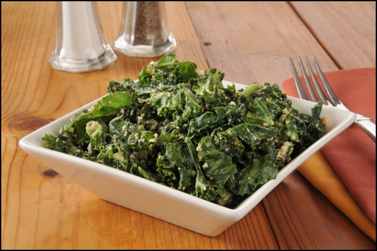 Delicious home made kale salad