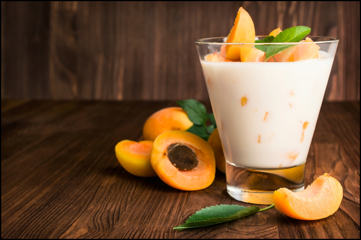 Delicious homemade apricot yogurt