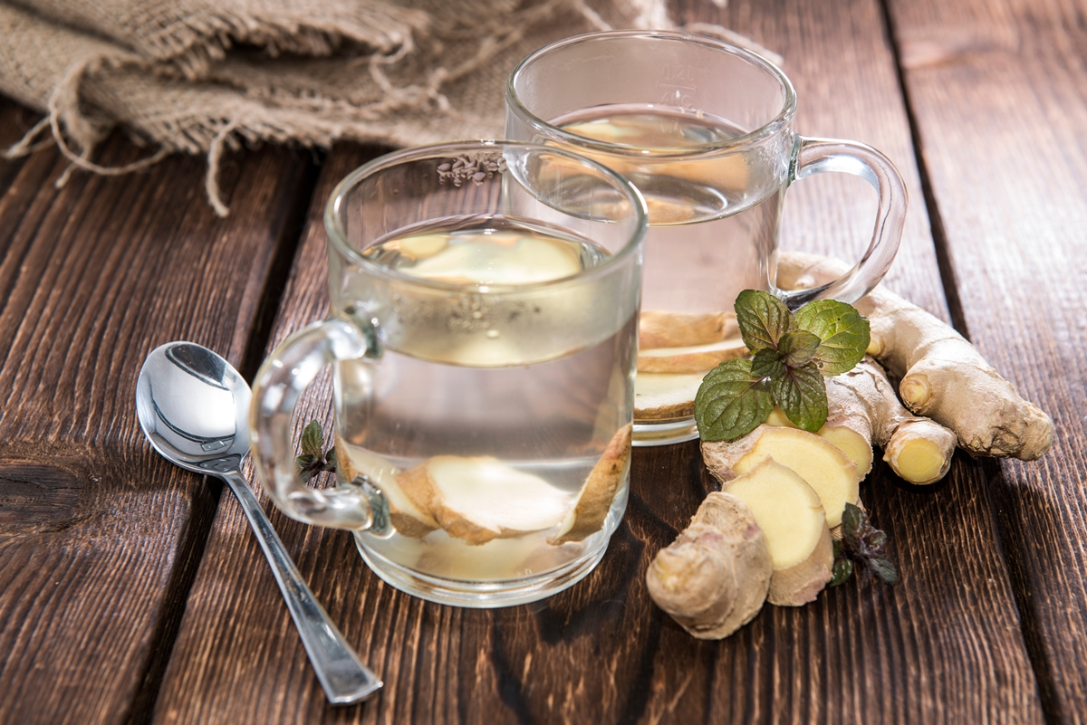 Fresh Homemade Ginger Tea