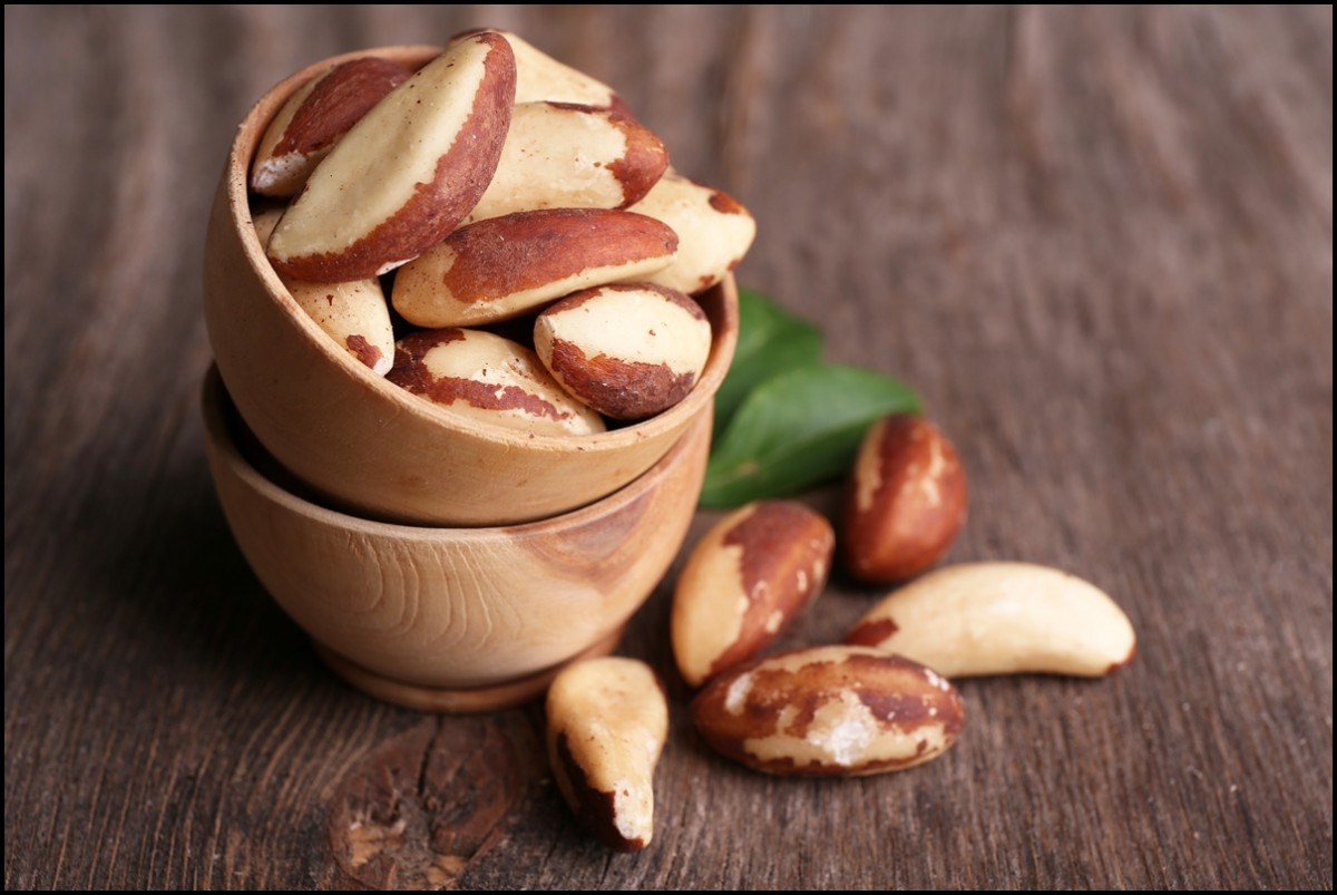 Fresh and tasty brasil nuts
