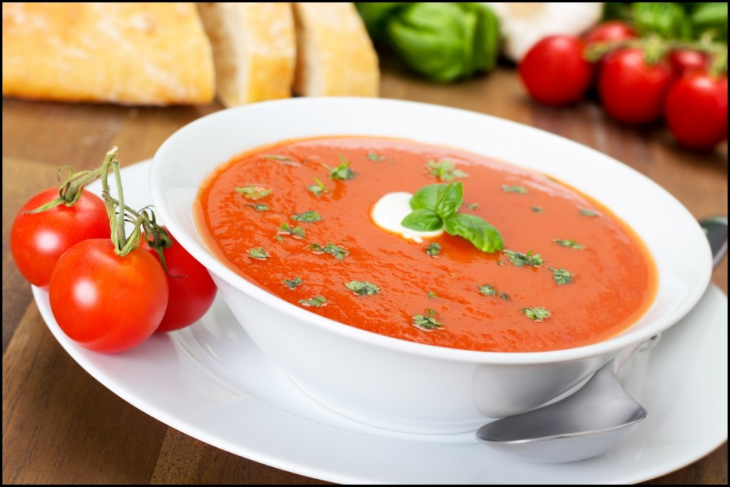 Fresh homemade tomato soup