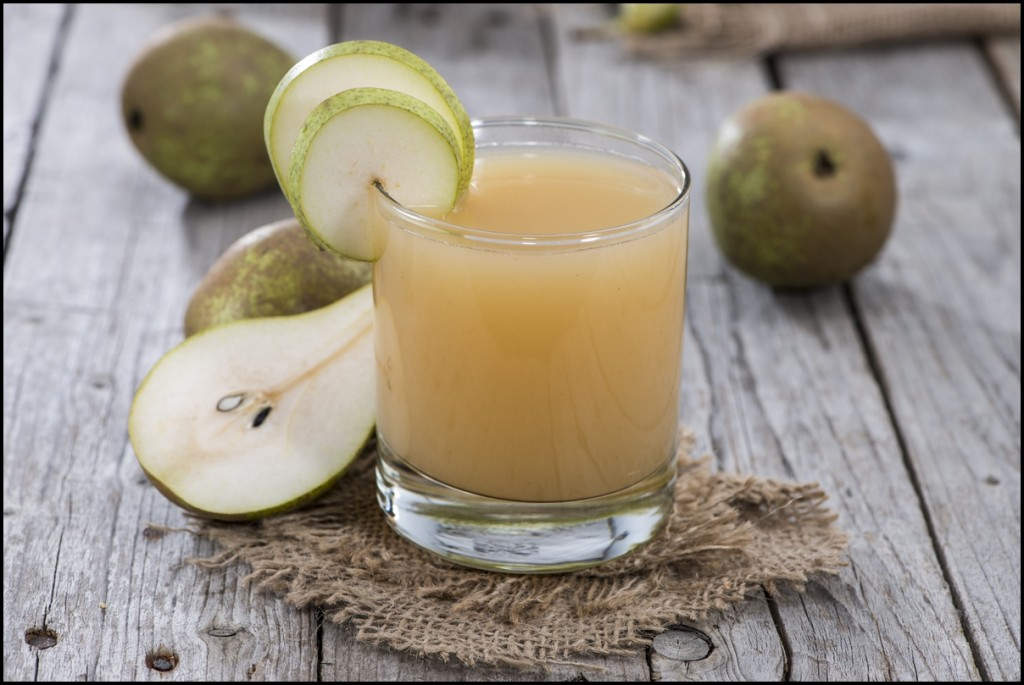 Freshly-made healthy Pear juice