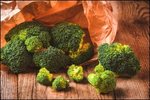 Green delicious fresh broccoli