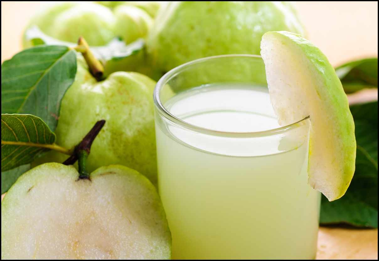 Having a hot day. How about a fresh green guava juice