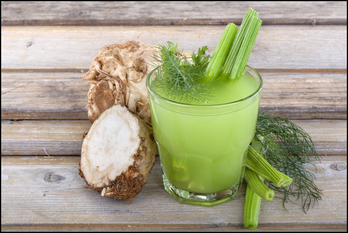 Healthy domestic celery juice