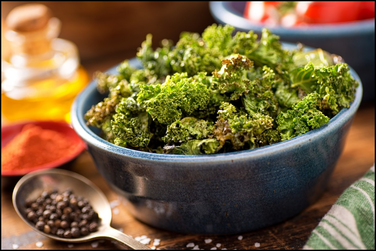 Just baked kale chips