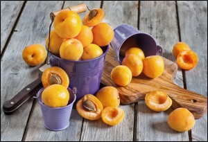 Lot of Sweet ripe apricots