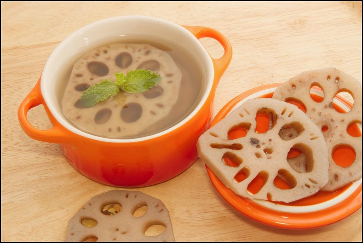 Lotus root dessert, nut ural herb dessert