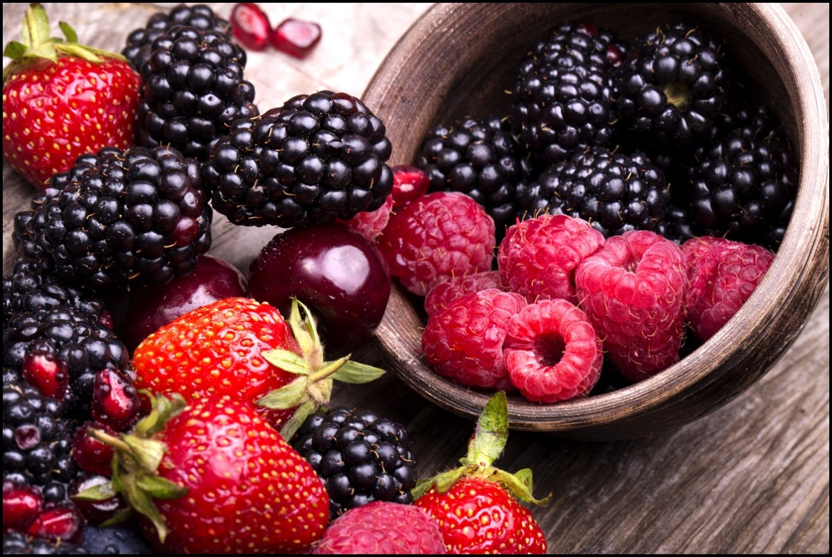 Make it a habit to eat blueberries, strawberries and blackberries everyday for a healthier and happier life