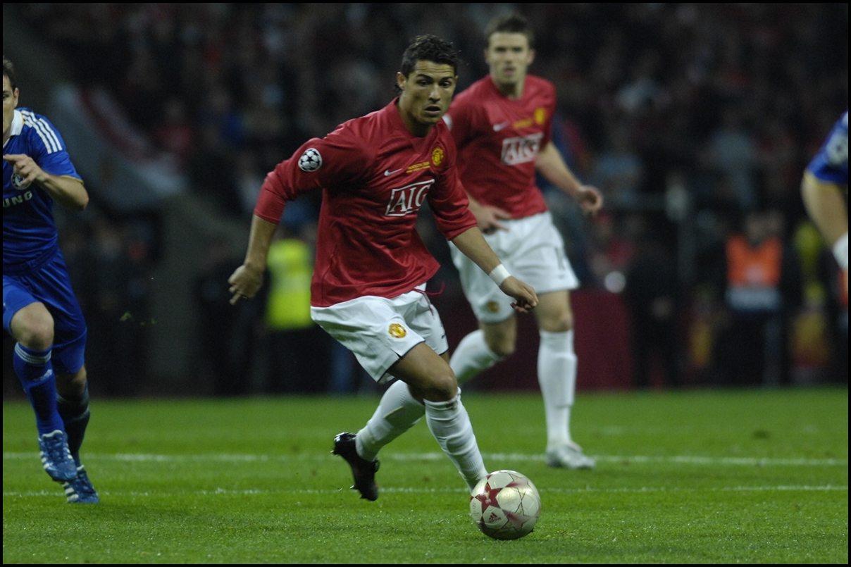 May 21 2008 Cristiano Ronaldo Playing For Manchester United Against Chelesa In The UEFA Champions League 2007 Final