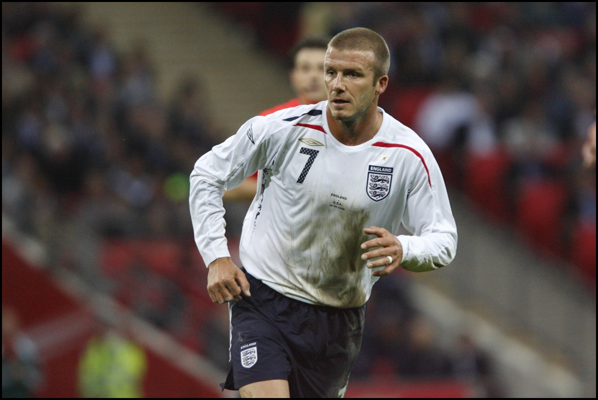 May 28, 2008. England's David Beckham in action against the USA during an international friendly at Wembley Stadium.