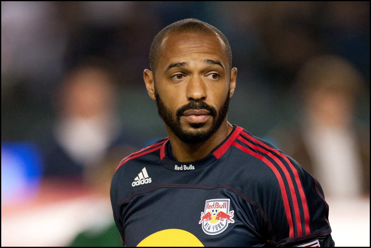 May 7, 2011. Thierry Henry of New York Red Bulls #14 at the Home Depot Center before the MLS game against the Los Angeles Galaxy