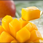 Organic Sliced Mango ready to be Served