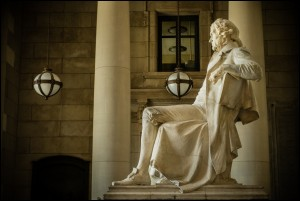 Thomas Jefferson Memorial at Missouri History Museum in St. Louis, Missouri, USA.
