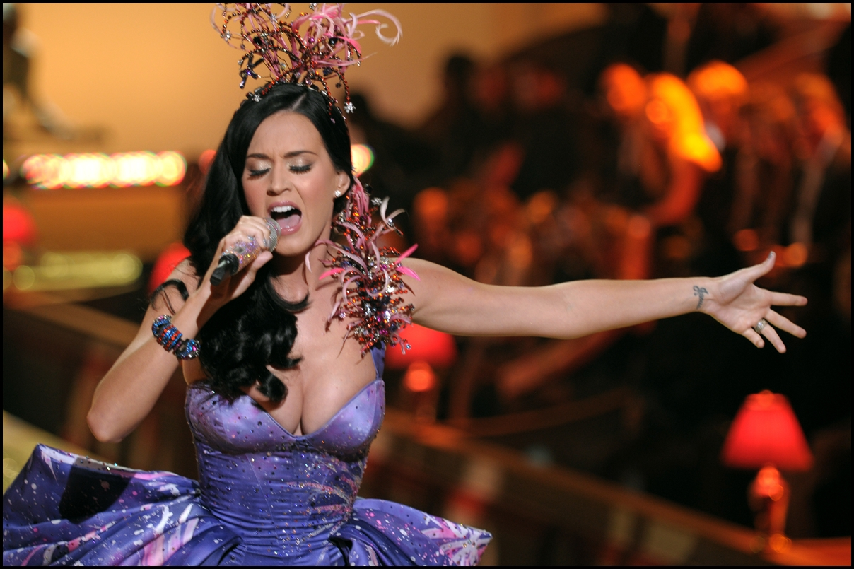 Victoria's Secret Fashion Singer Katy Perry walks the runway during the 2010 Victoria's Secret Fashion Show