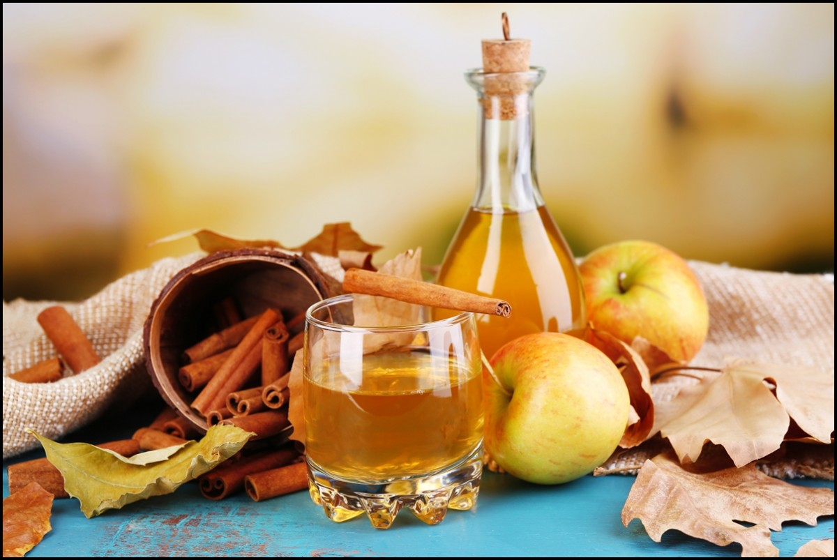apple cider vinegar with cinnamon sticks