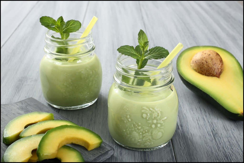fresh avocado smoothie