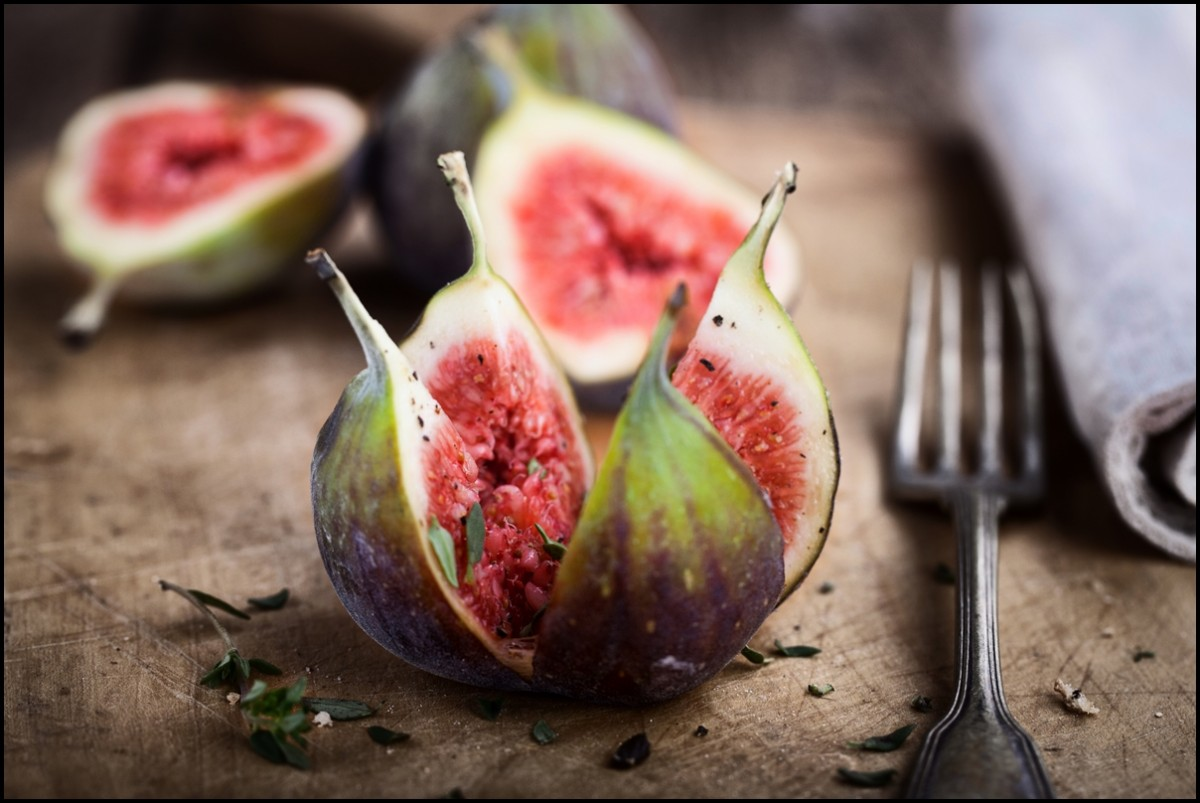 fresh opened figs