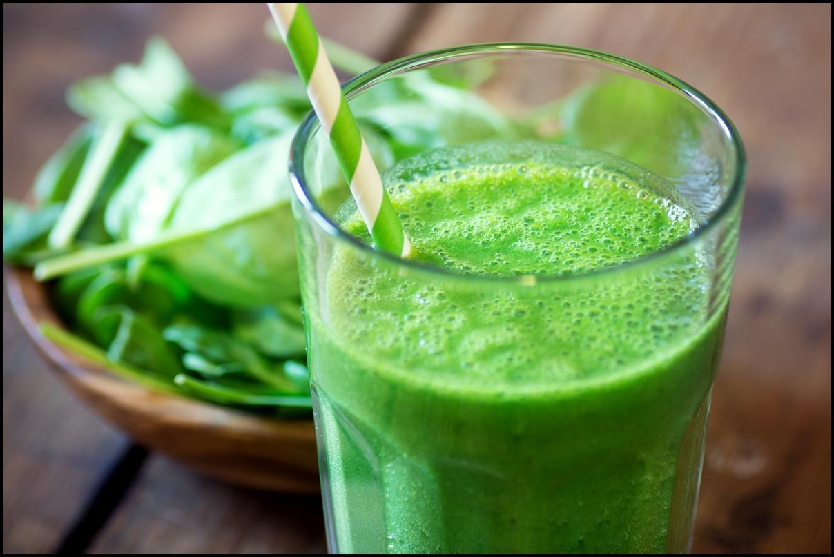 fresh spinach smoothie