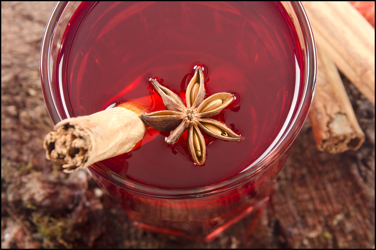 red tea with cinnamon and anise