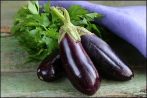 ripe purple eggplant