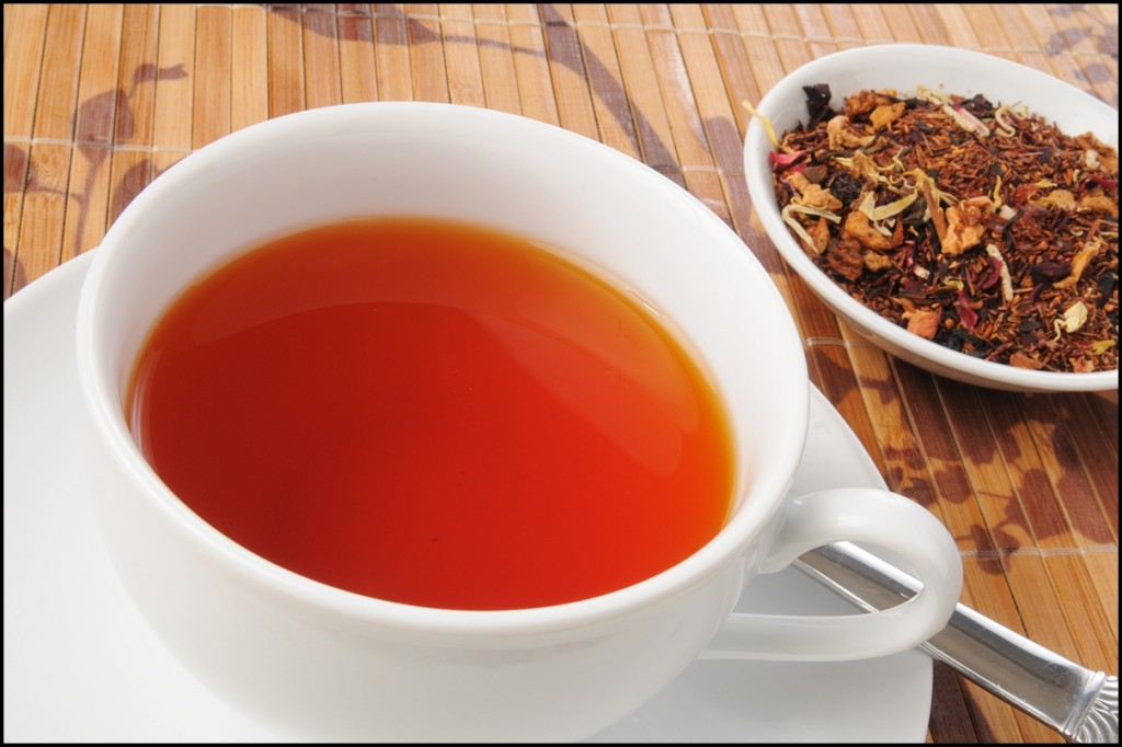 A cup of honey spice rooibos tea