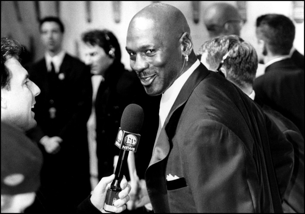 December of 1999. Michael Jordan being interviewed at the Sports Illustrated Century Sports Awards