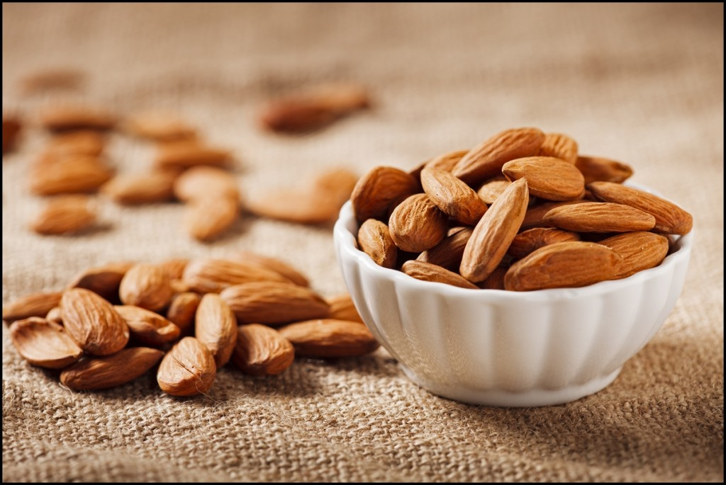 Different types of nuts - Almonds