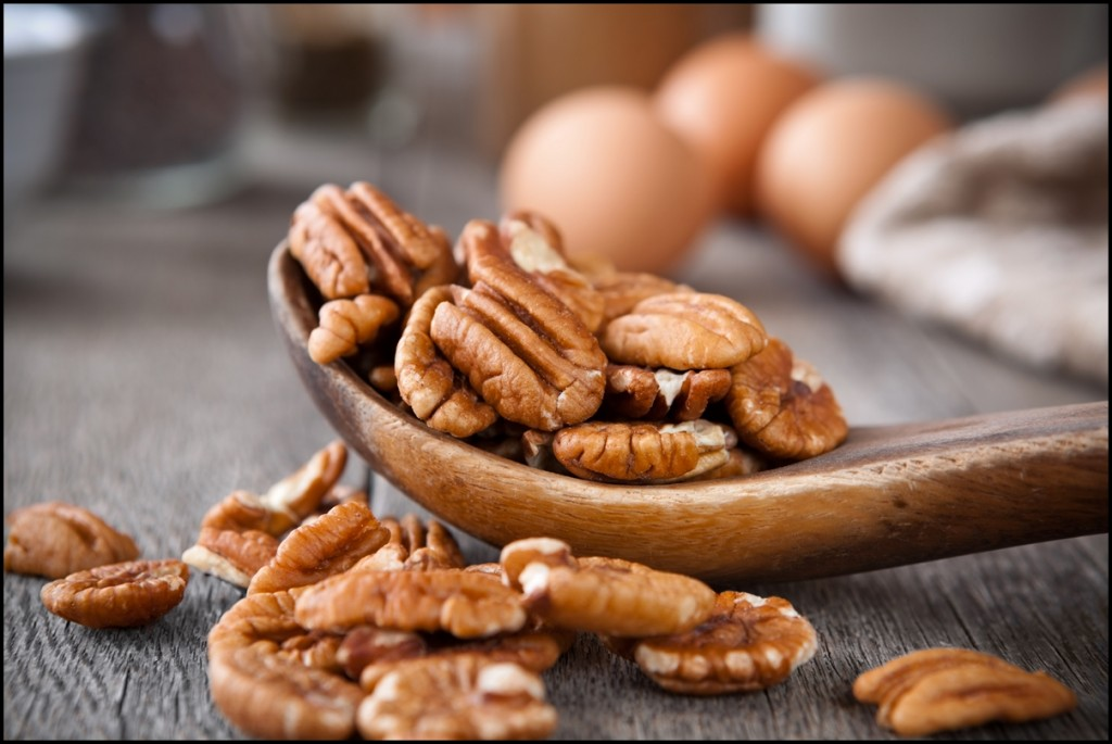 Different types of nuts - Pecans