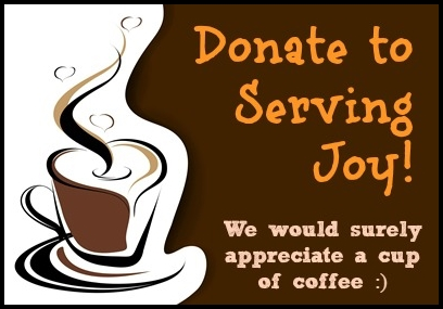 Donate to Serving Joy - Buy us a cup of hot premium coffee