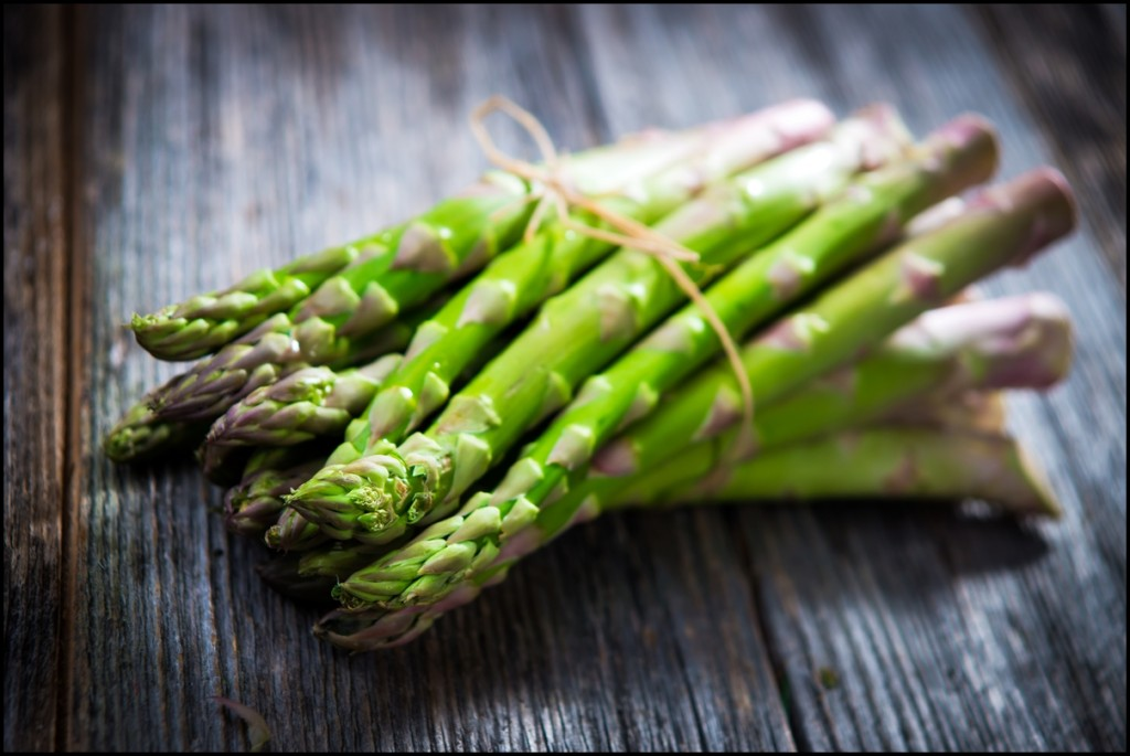 Fresh Asparagus Close Up
